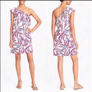 ❤️4/$25 J.CREW Shoulder Ruffle Tropical Dress